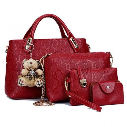 New Hot 4Pcs Handbag...