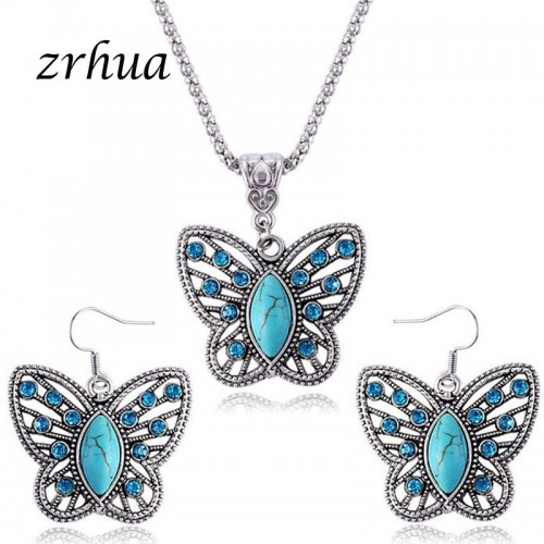 Crystal Butterfly Necklace...