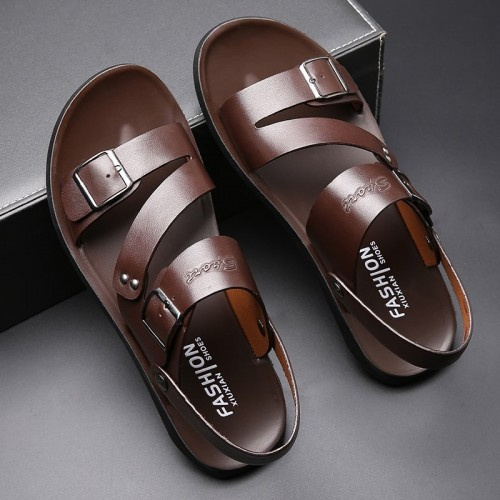 Men's leather sandals and...
