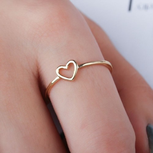 Heart ring alloy plating ring