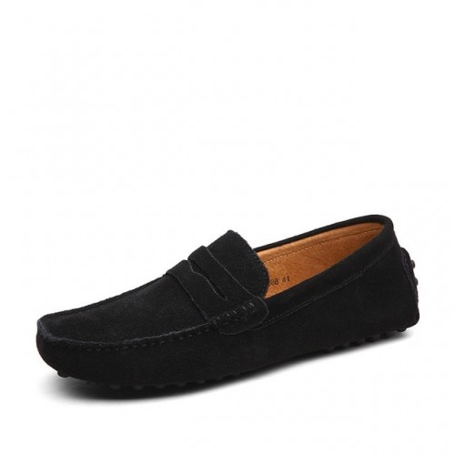 Men Casual Suede Leather...