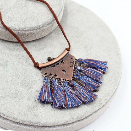 Fringed Hollow Sweater Chain
