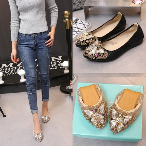 Egg roll shoes flat shoes